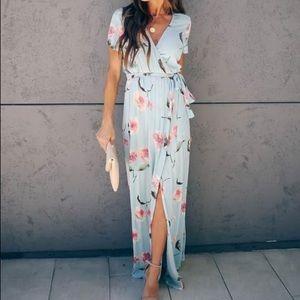 Floral Bardot Maxi Dress (NWOT)